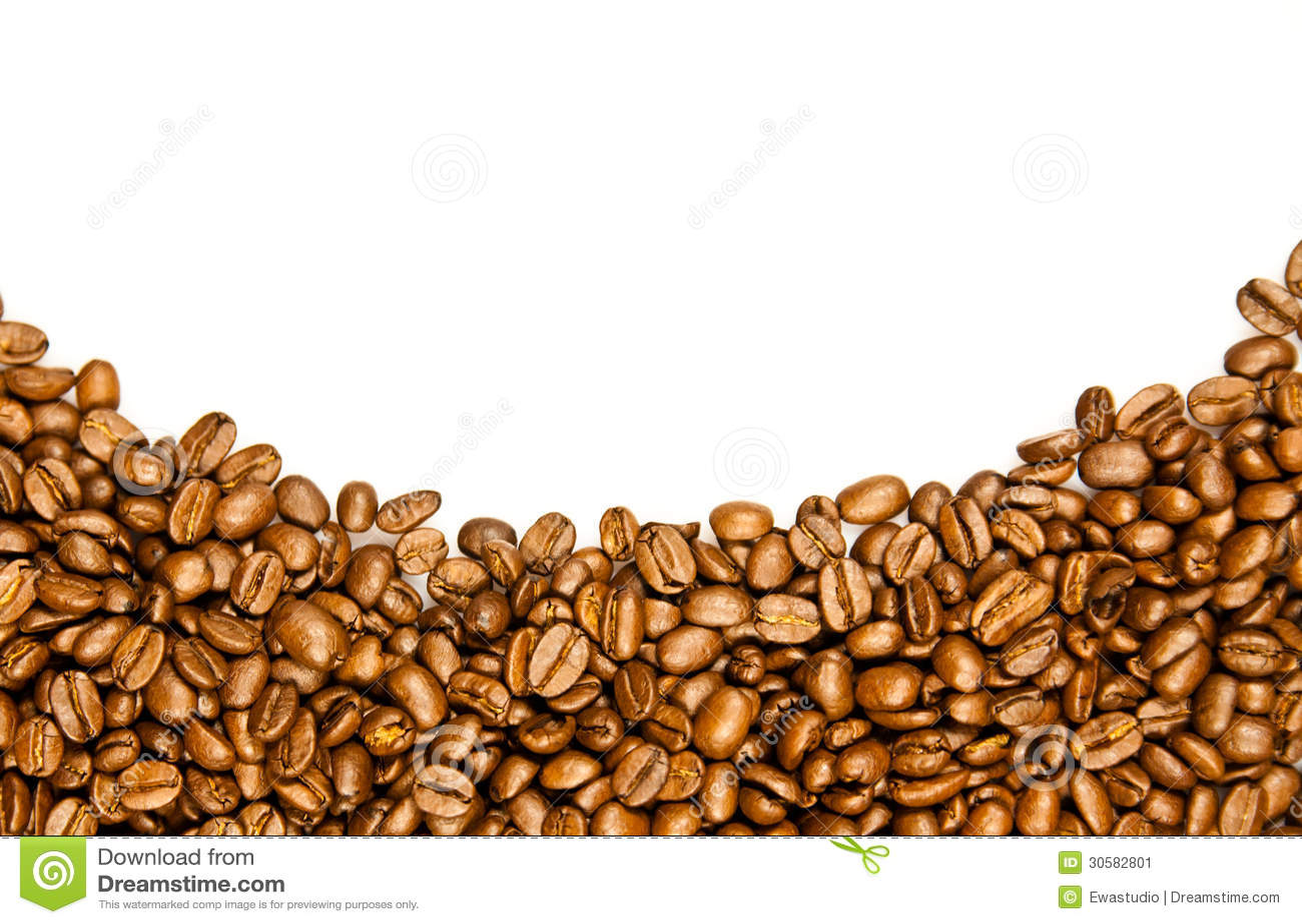 Coffee Bean Border ~ Coffee border brown beans stock image