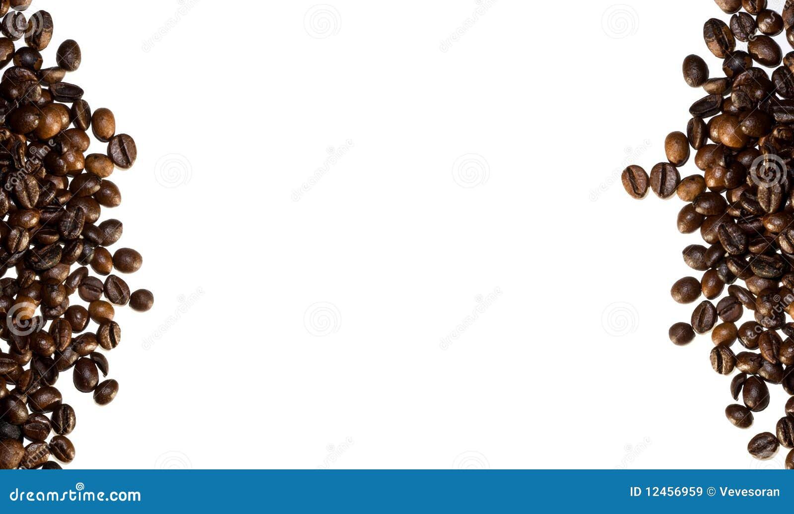 Coffee beans border stock image. Image of bean, edge - 26403735