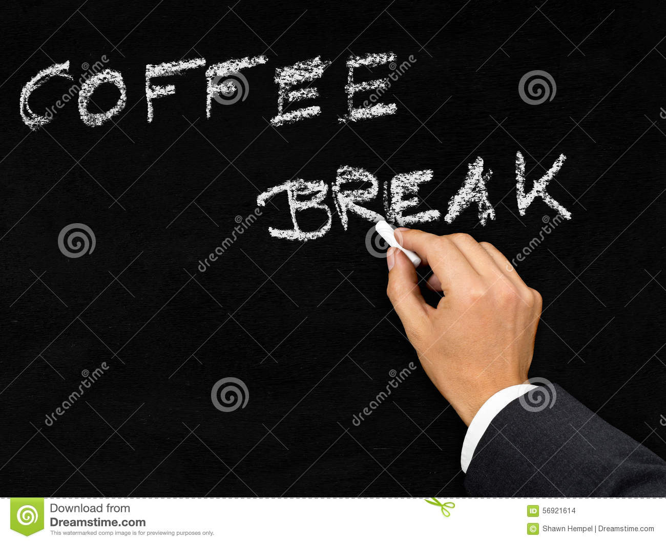 bockbord ritning ~ coffee break blackboard writing stock photo  image 56921614