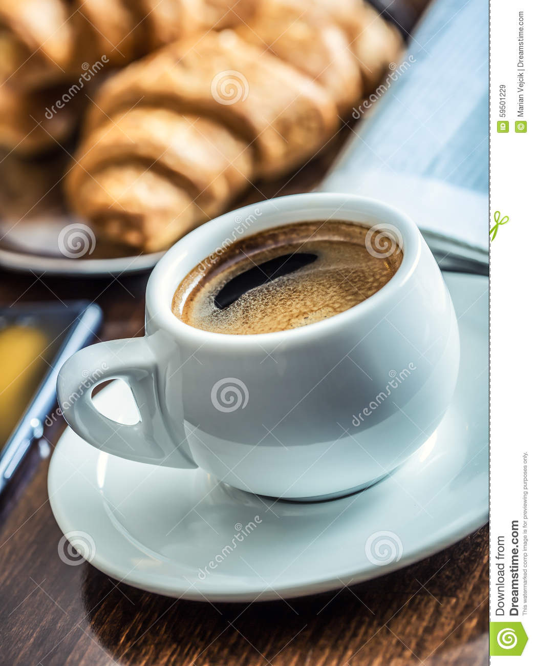 Coffee Break Business Cup Of Coffee Mobile Phone And
