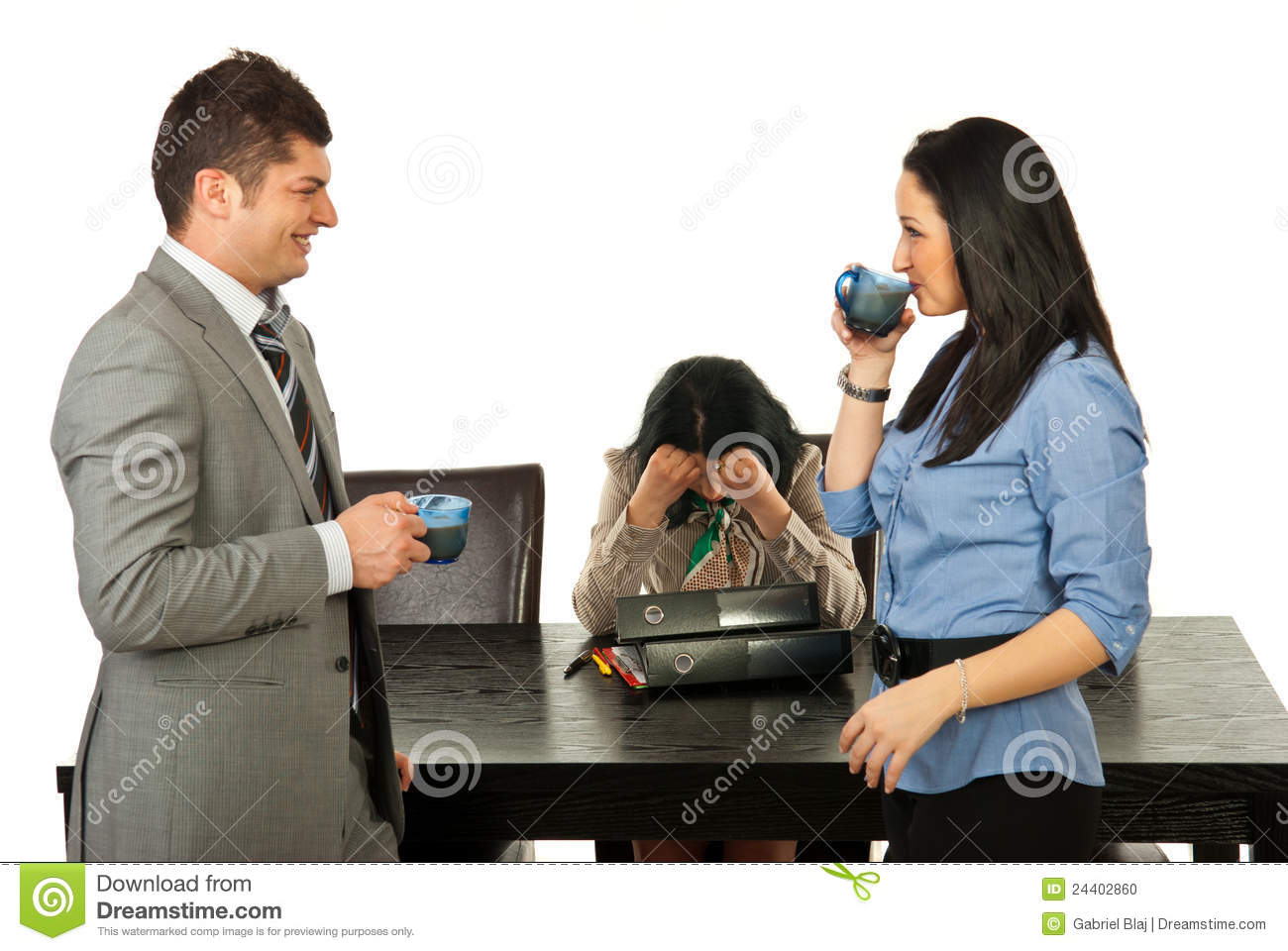 Coffee Break For Business People Stock Photo - Image: 24402860