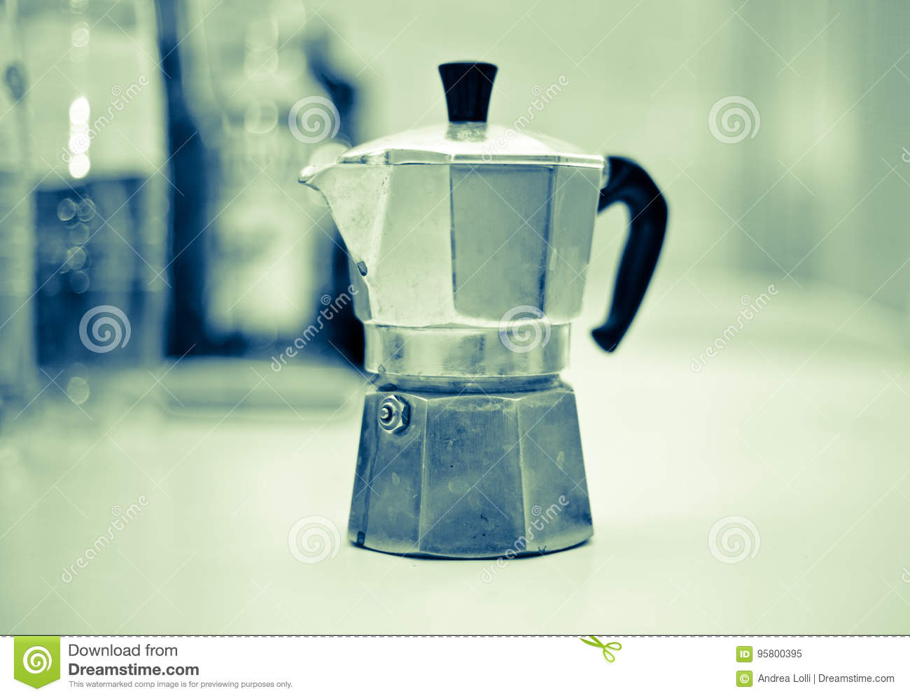 Coffee Break with italian moka good morning energy caffeine black coffee