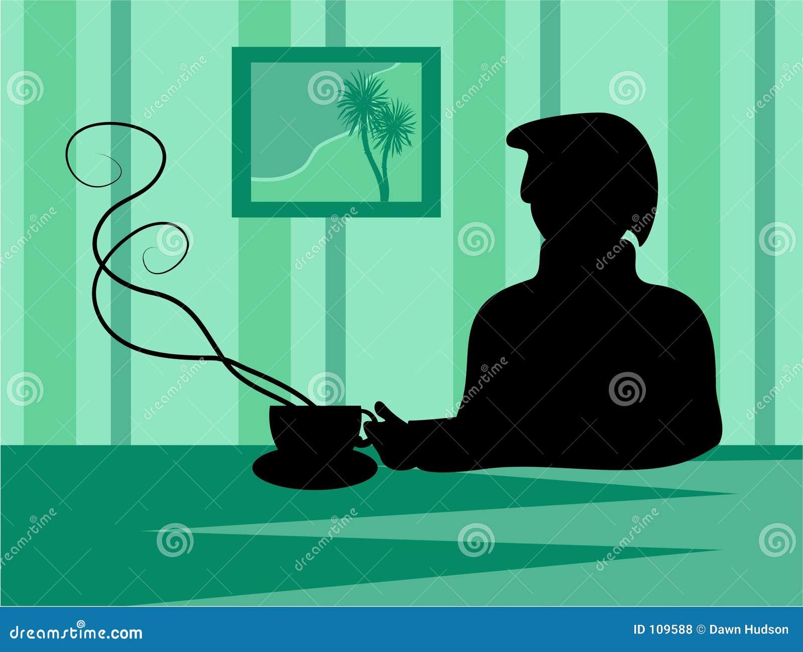 Coffee Break Silhouette