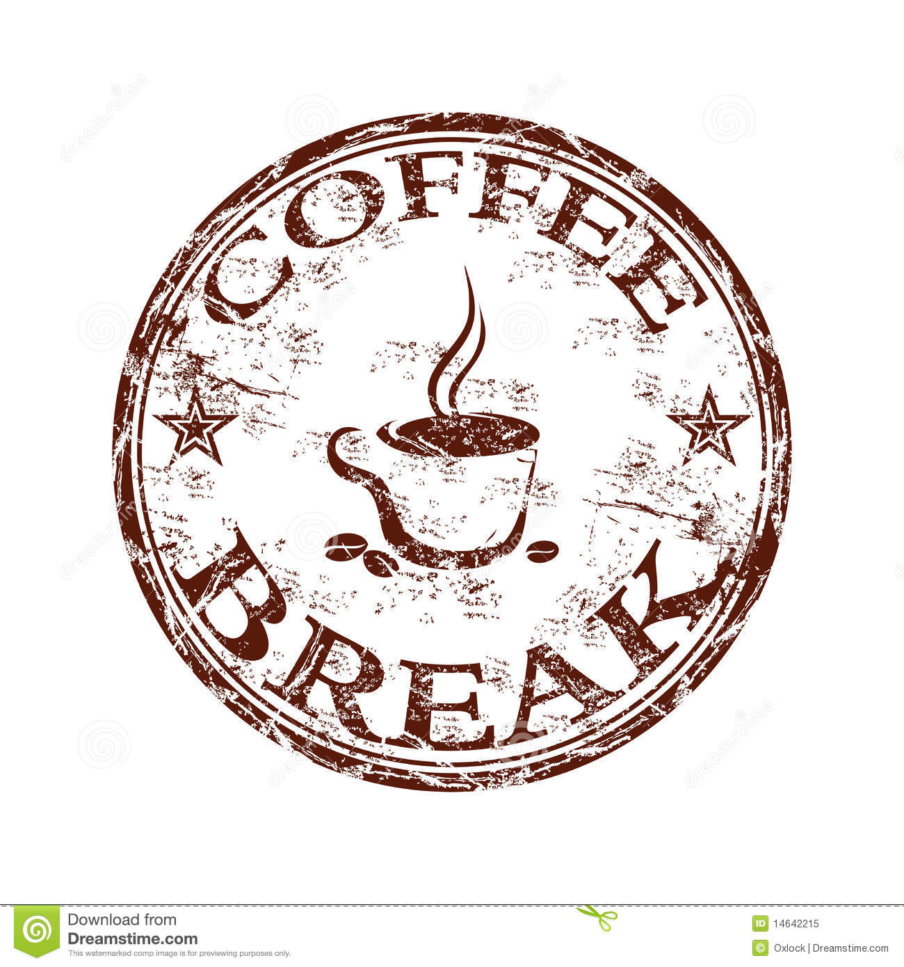 Coffee Break Stamp Royalty Free Stock Photo Image 14642215
