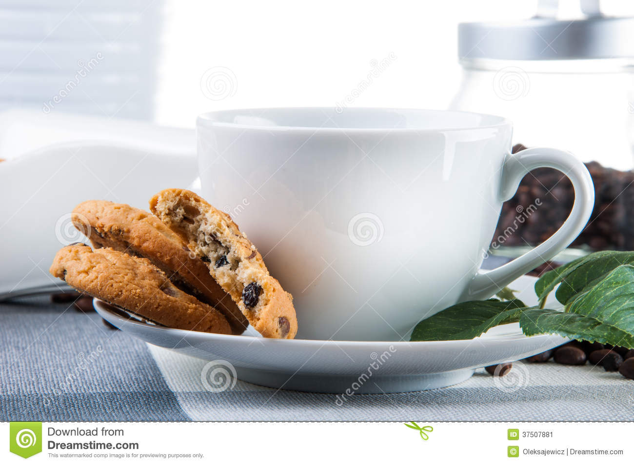 Coffee Break Theme On Kitchen Table Stock Image - Image of nature ...