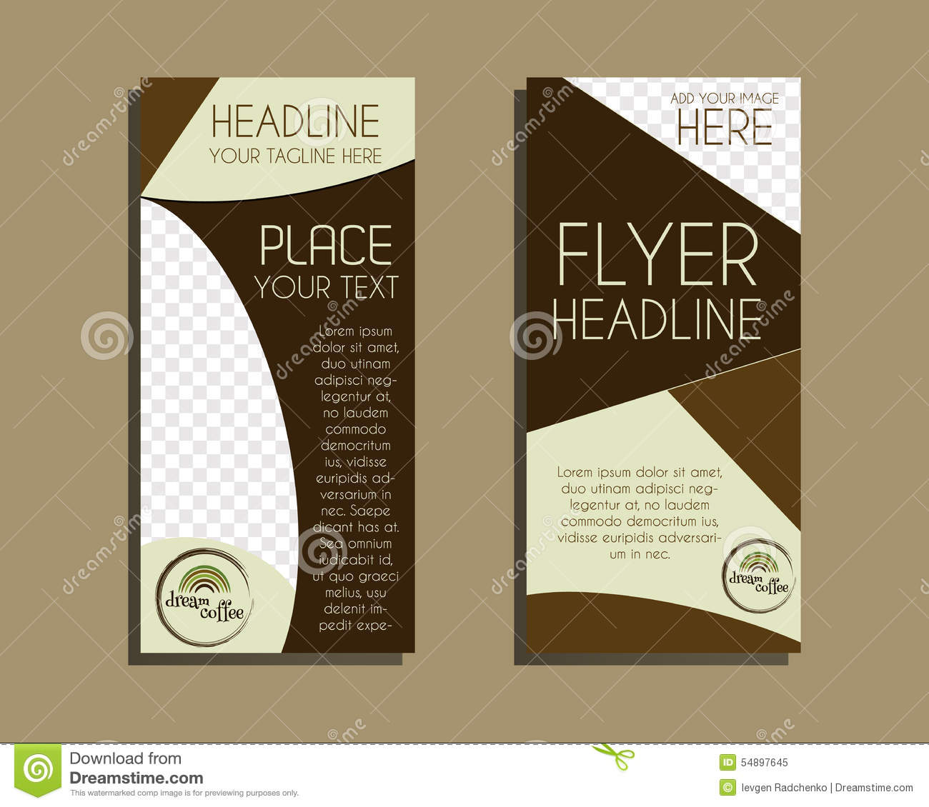 coffee house template brochure or flyer design stock photo coffee brochure flyer design layout template royalty stock photo