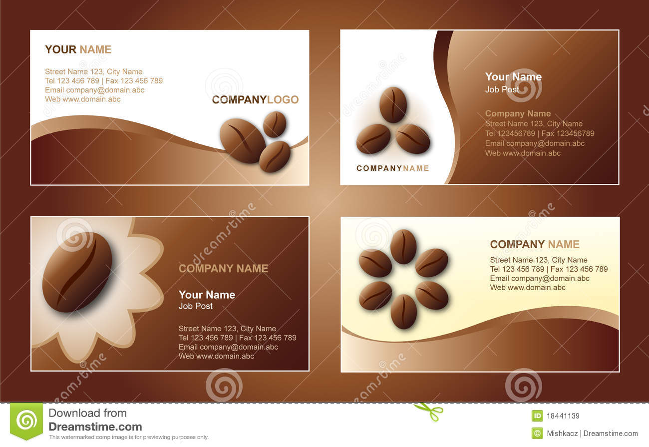 Coffee Business Card Template Stock Vector - Illustration of ...