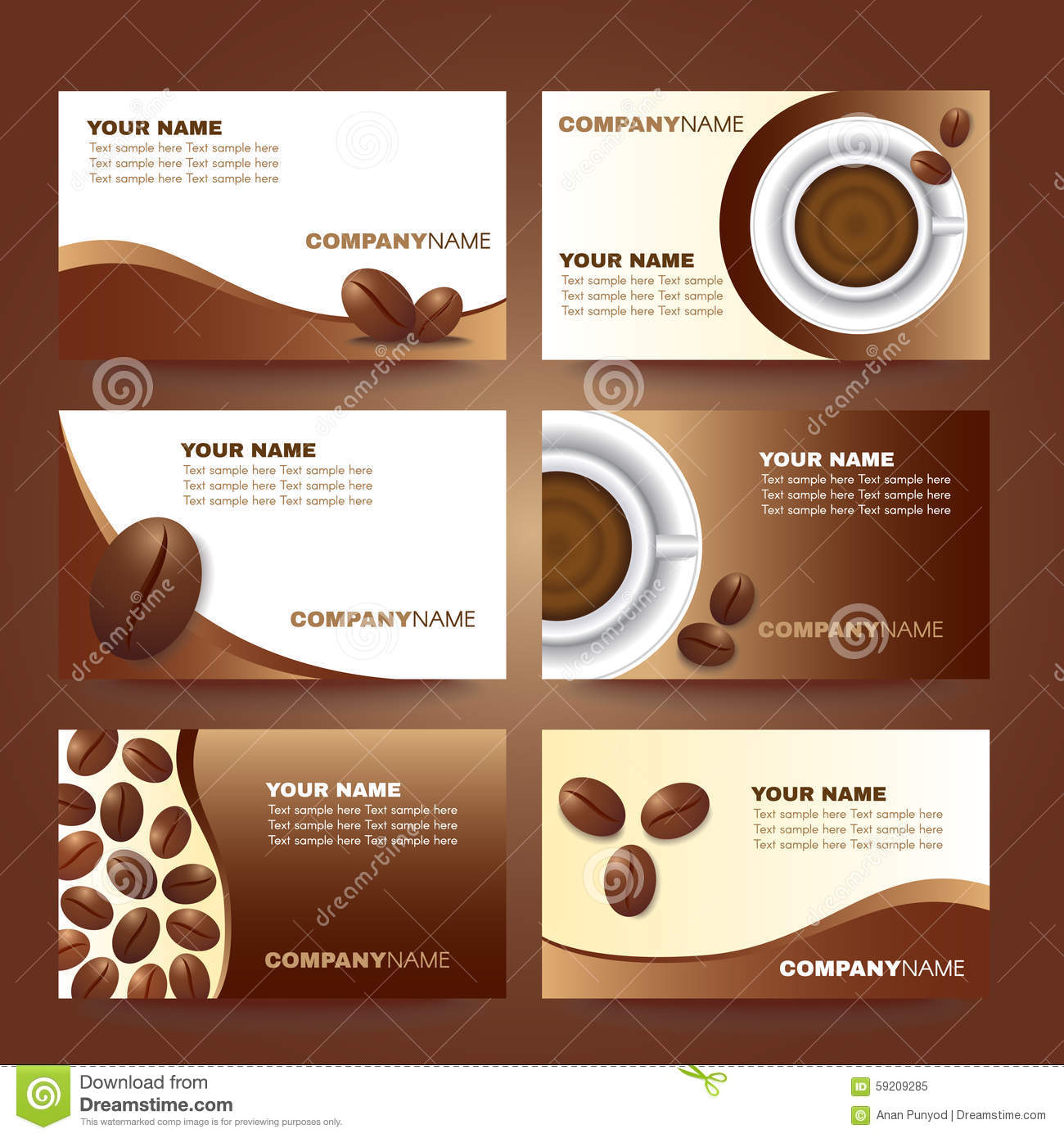 Coffee business card template vector set design stock vector coffee business card template vector set design wajeb