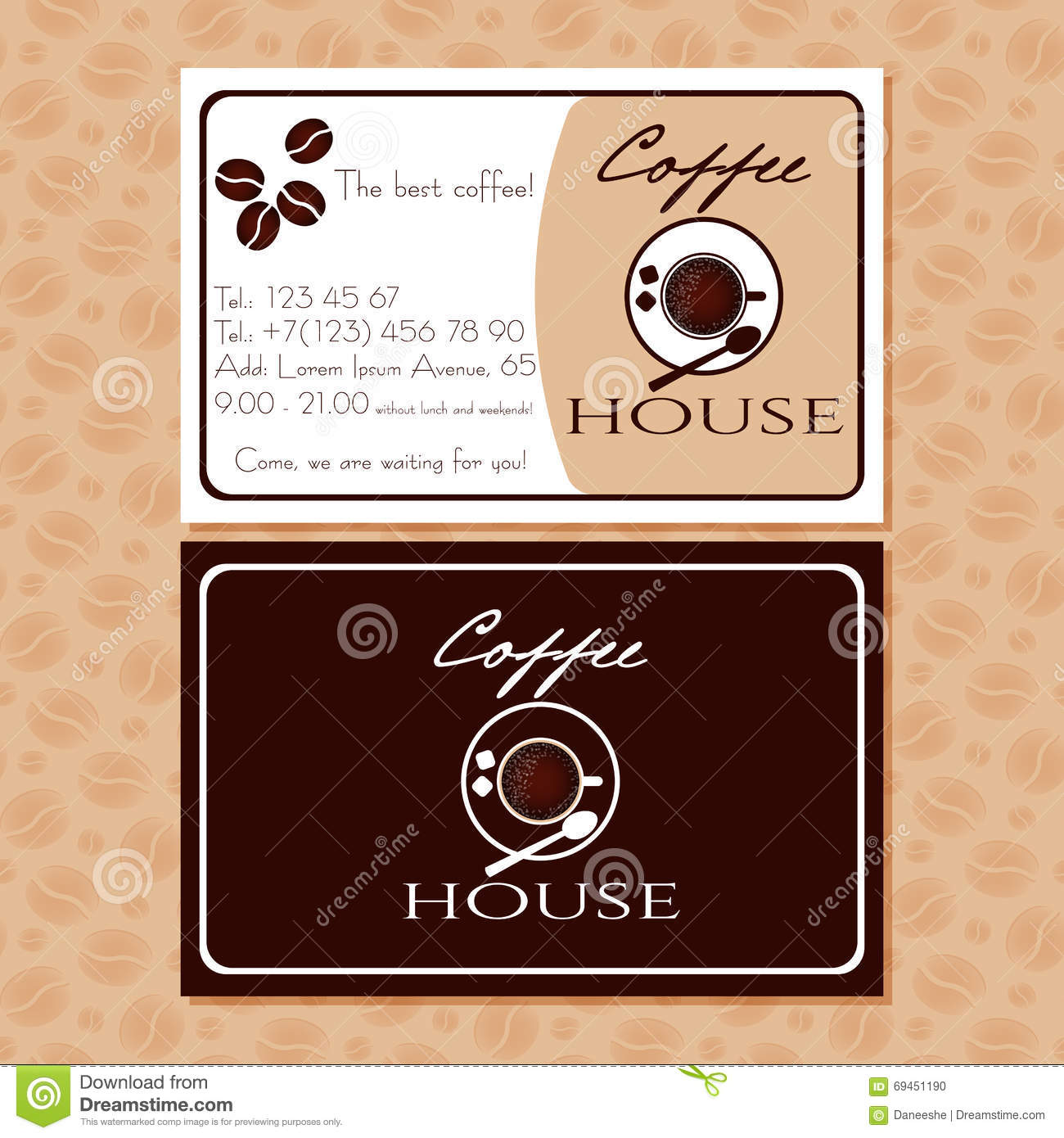 Coffee business cards for your design stock vector illustration of coffee business cards for your design colourmoves