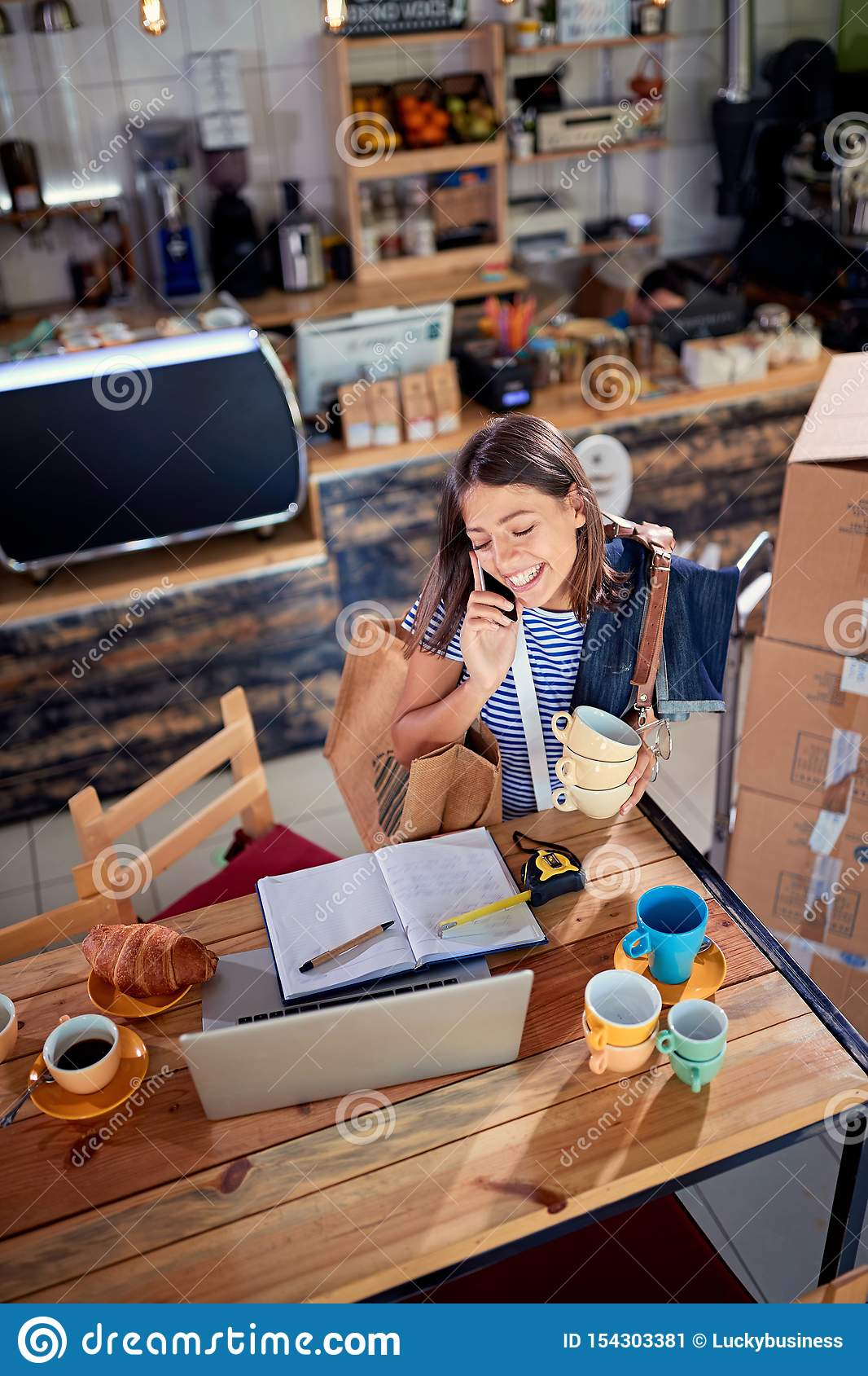 Coffee business concept - Woman owner working
