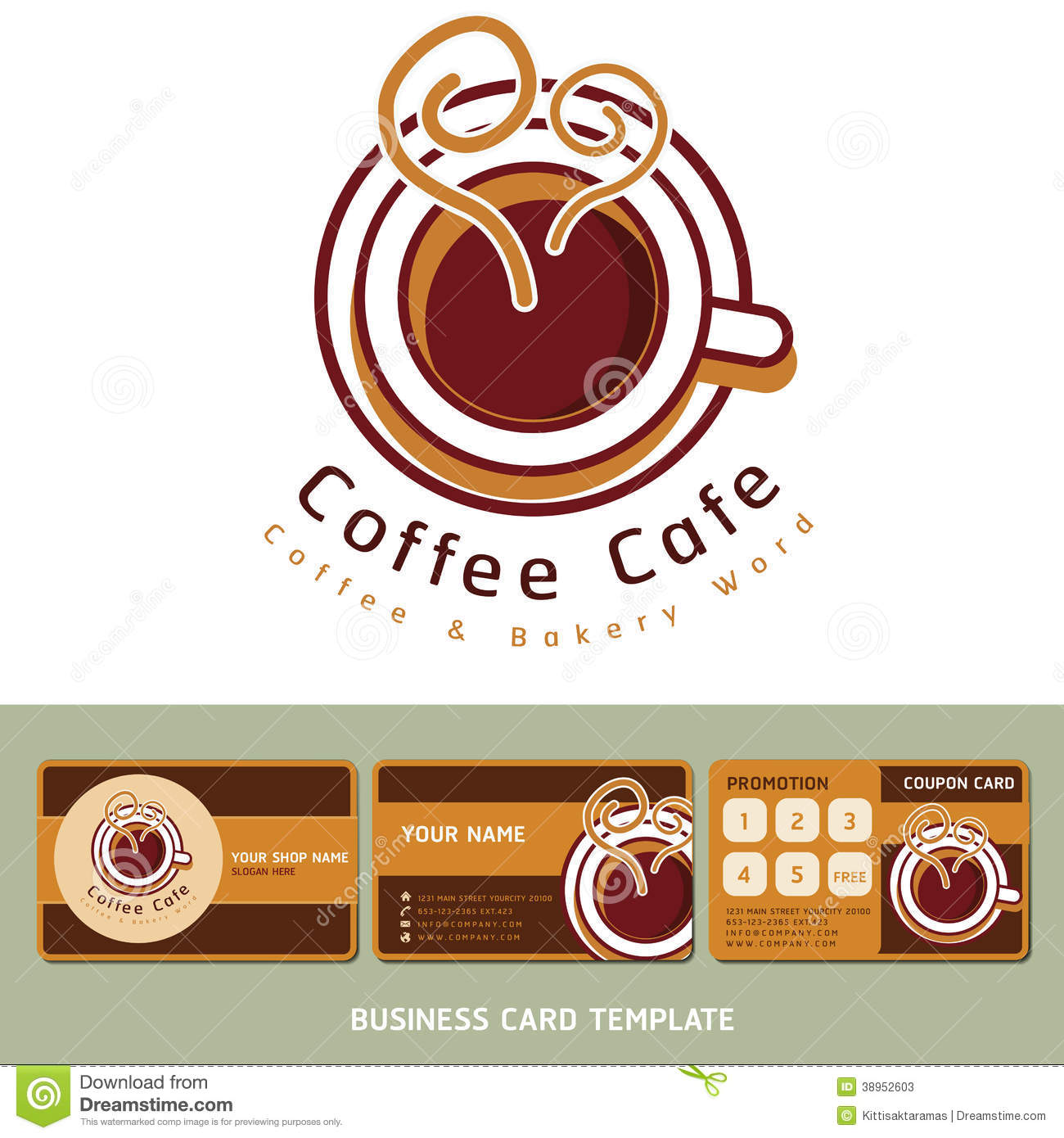 Coffee cafe icon logo and business cards stock vector coffee cafe icon logo and business cards flashek Gallery