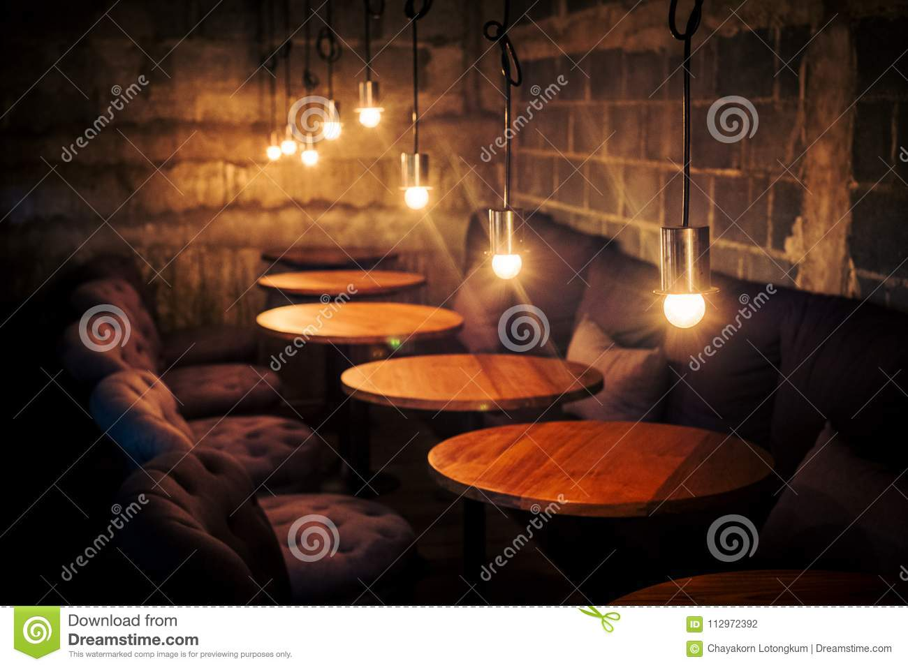 Coffee Cafe Vintage Classic Design With Light Stock Photo Image Of Candlelight Background 112972392