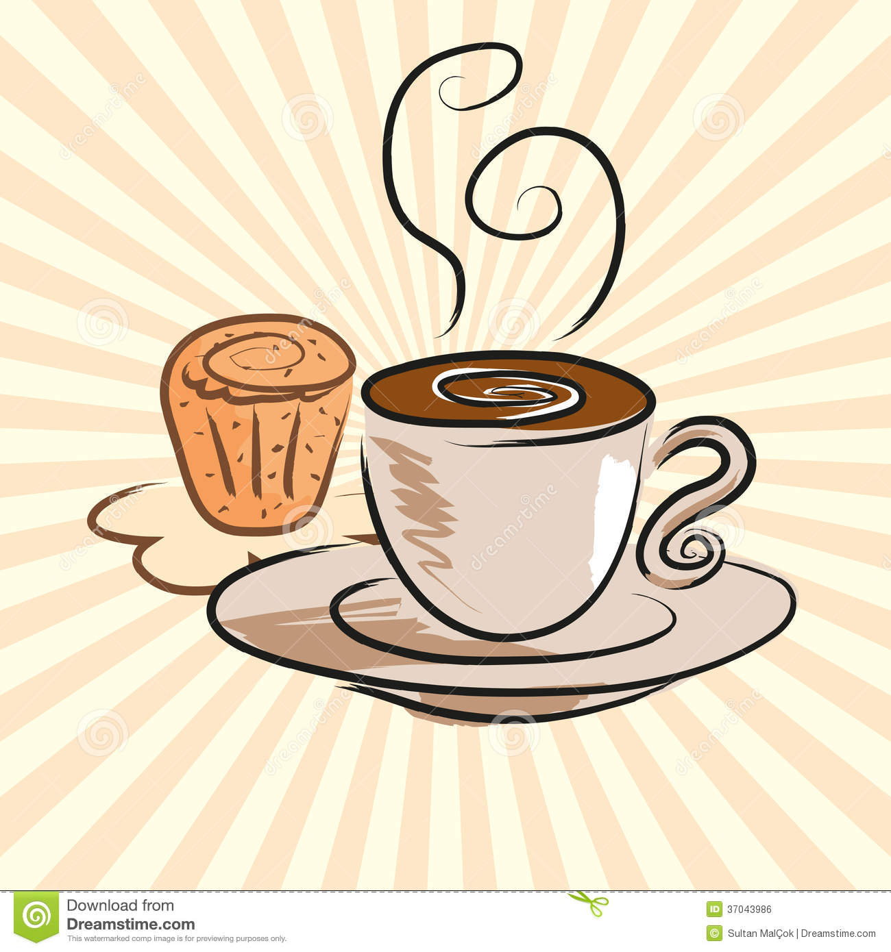 Clip Art Cake And Coffee : Coffee And Cake Royalty Free Stock Image - Image: 37043986