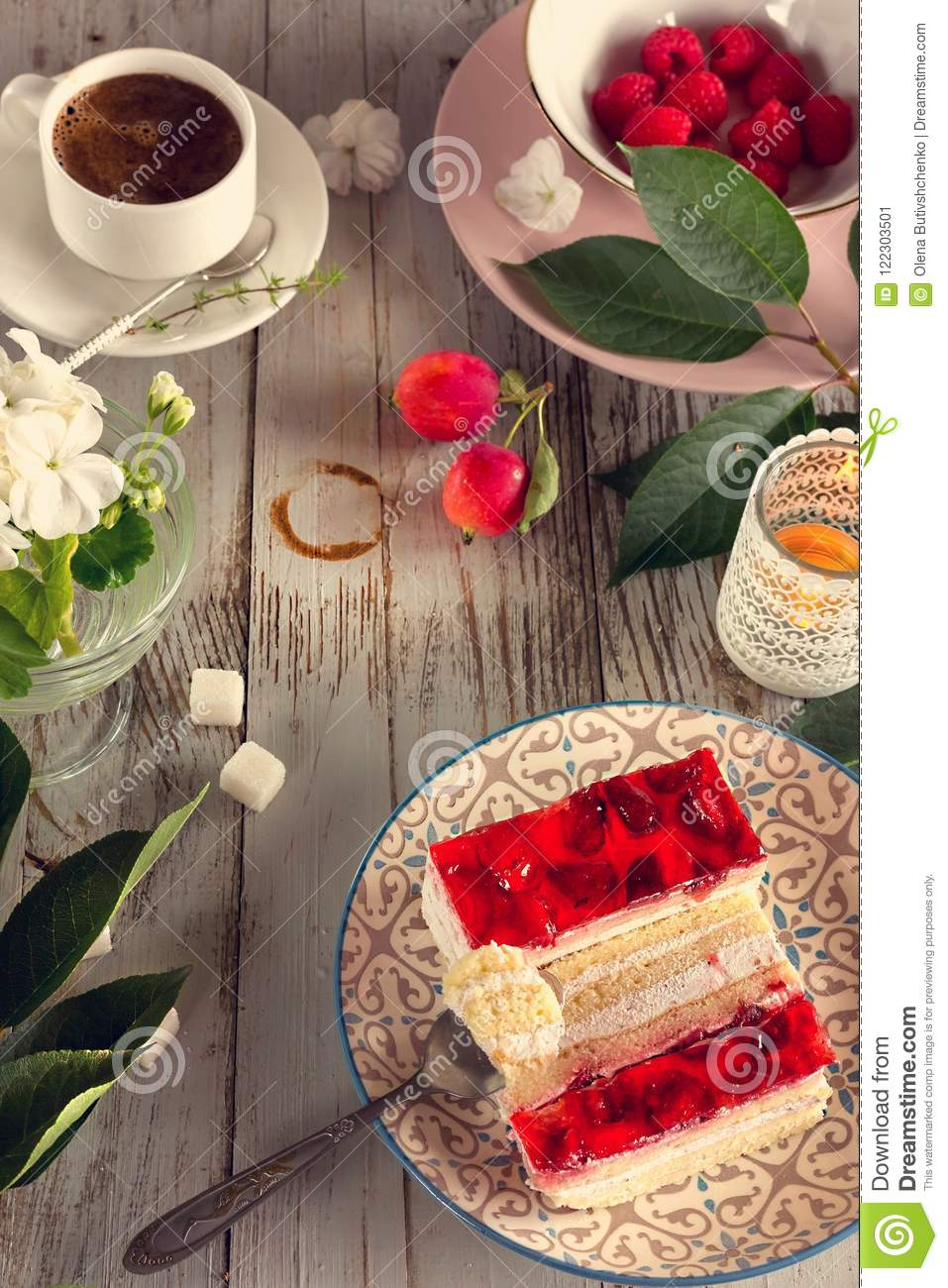 Excellent Coffee And Cake Stock Image Image Of Cozy Feelings 122303501 Personalised Birthday Cards Vishlily Jamesorg