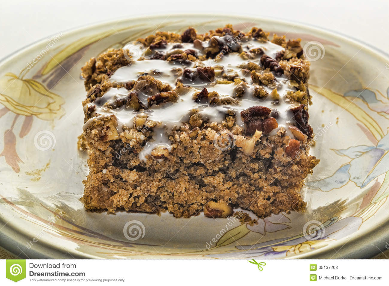 Coffee Cake With White Frosting Royalty Free Stock Photos - Image ...