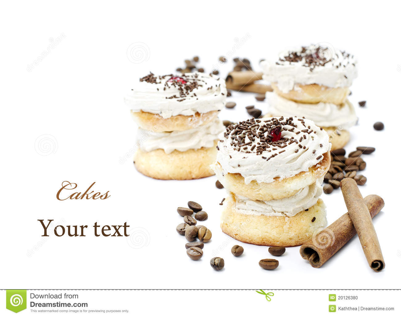 Download Coffee cakes stock photo. Image of nutrition, cuisine - 20126380