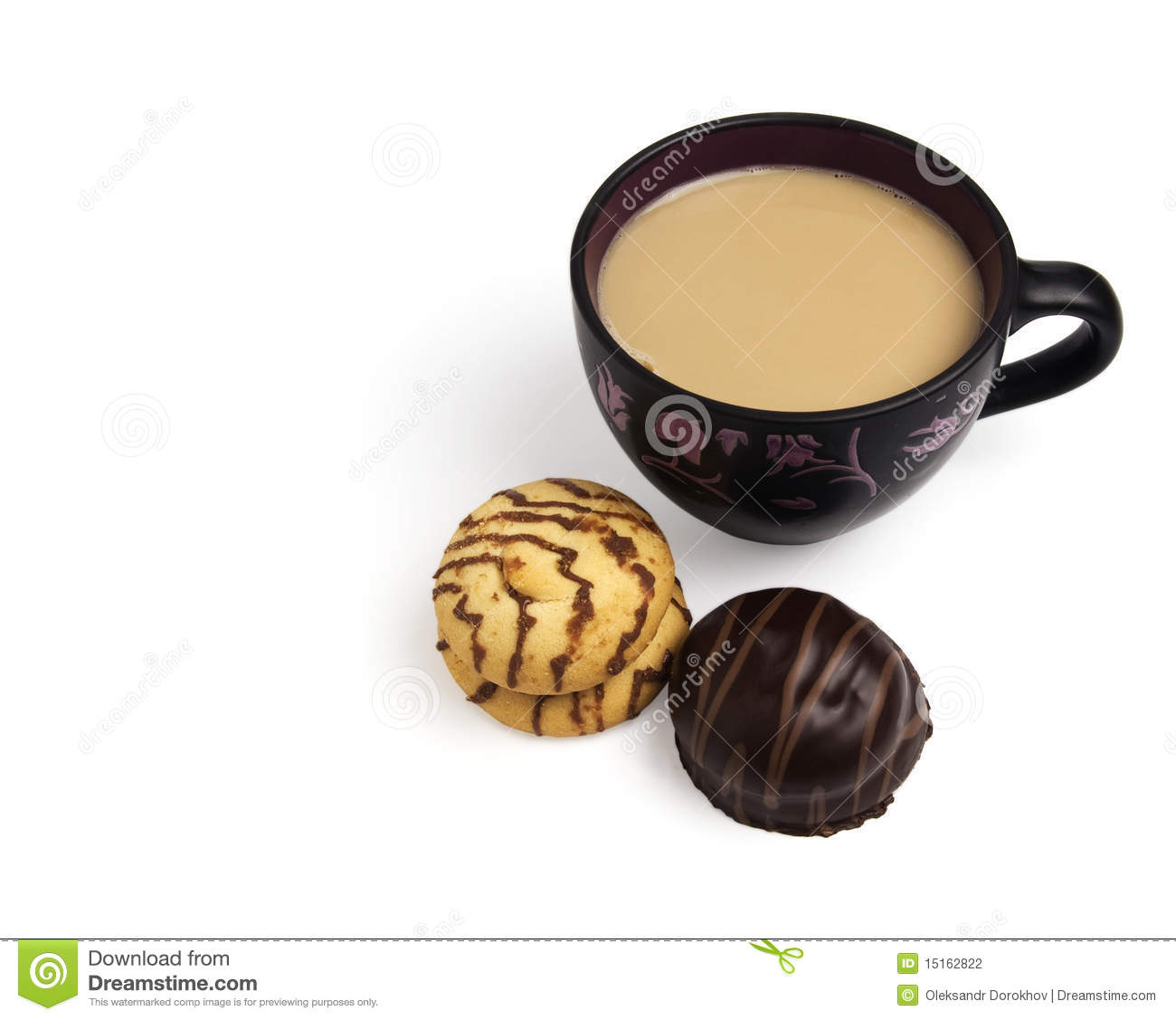 Coffee Cappuccino And Cookies Stock Photography - Image ...