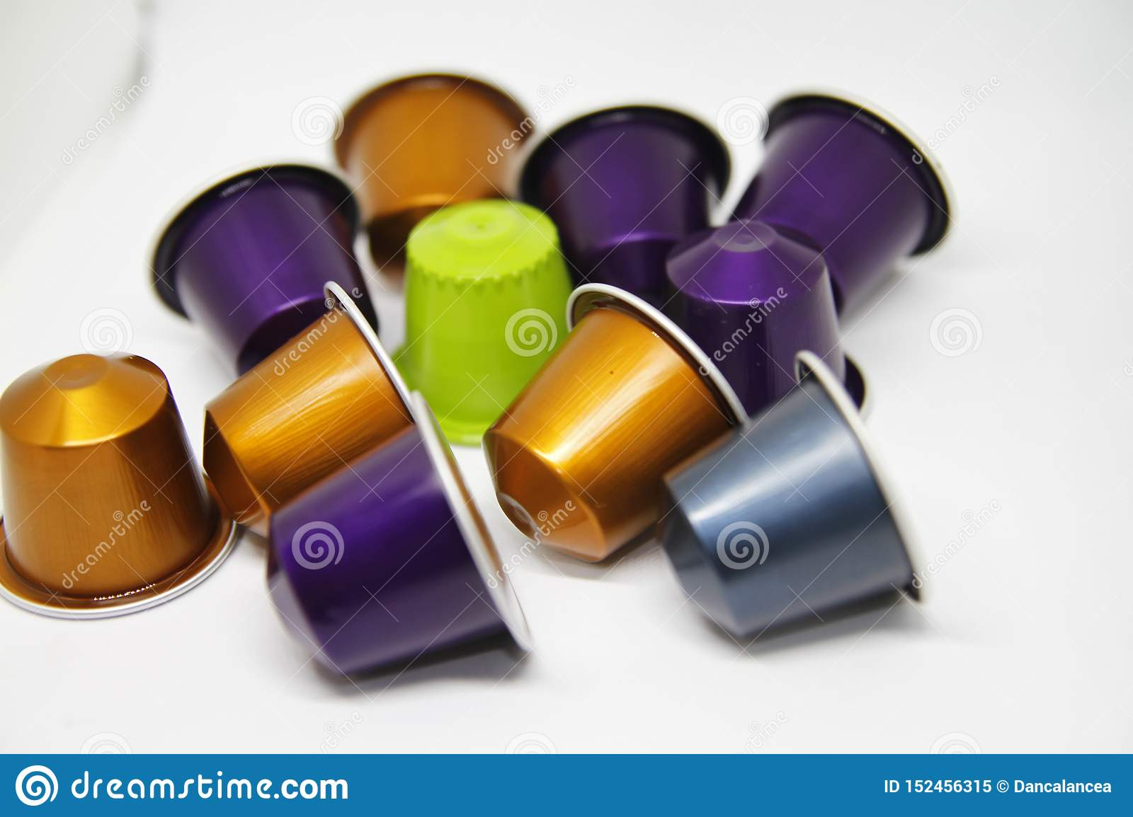 Coffee capsules on office desk