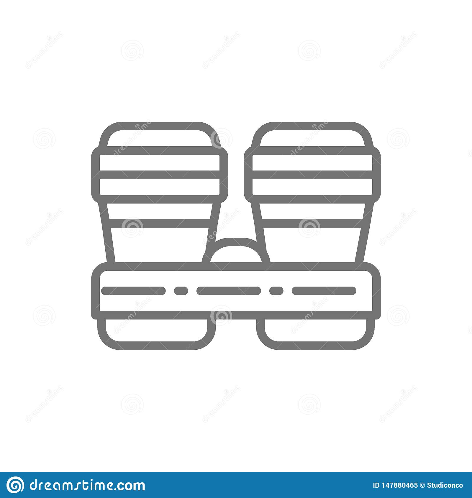 778ac38bd84 Coffee In Cardboard Cups, Takeaway Line Icon. Stock Vector ...
