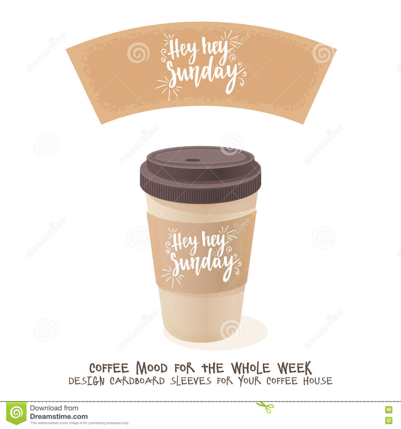 coffee cardboard sleeve week days motivation quotes sunday
