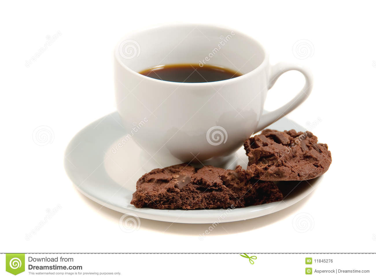 Coffee And Chocolate Cookies Royalty Free Stock Image ...