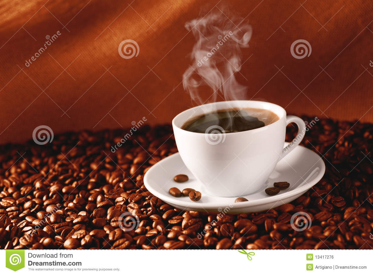 Coffee on coffee-beans