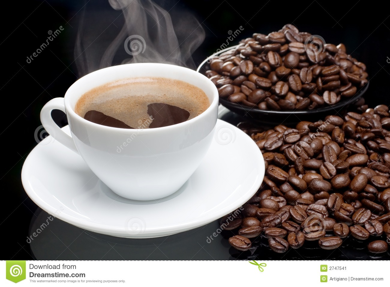 Coffee with coffee-beans