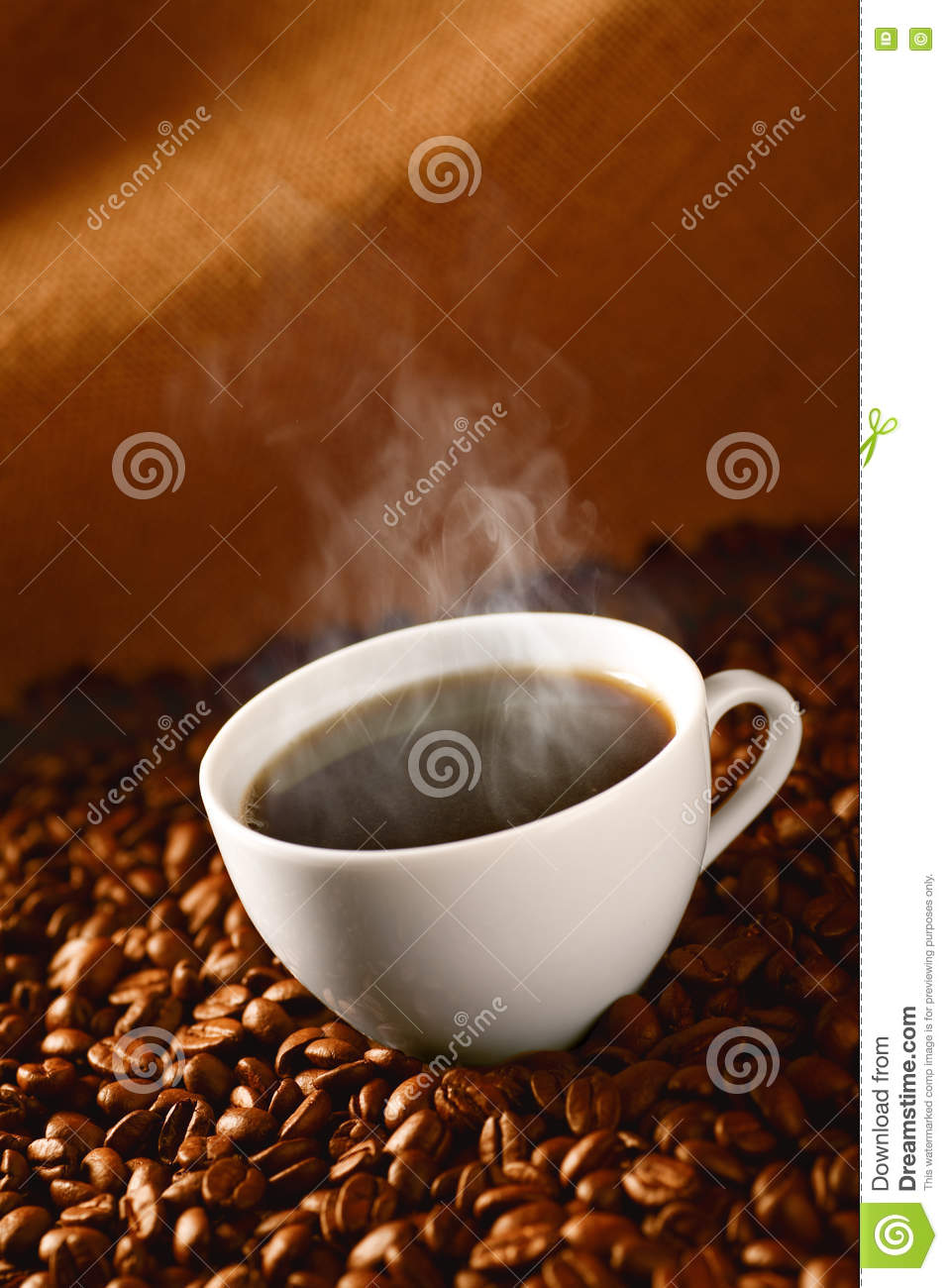Coffee on coffee-beans 3
