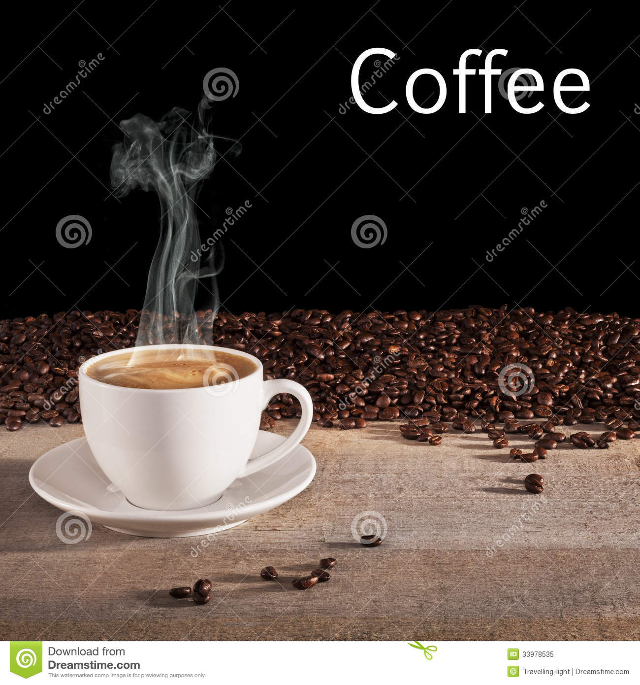 Coffee Concept Stock Image. Image Of Steam, Background