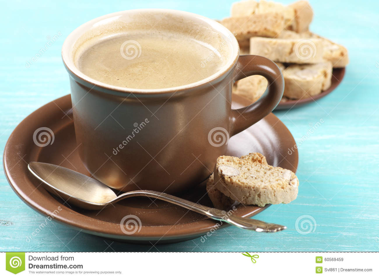 Coffee and cookies stock image. Image of rustic, pastry - 60569459