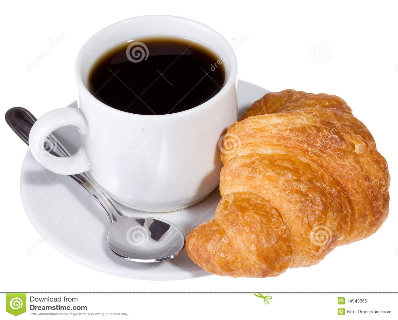 Coffee And Croissant Royalty Free Stock Photo Image