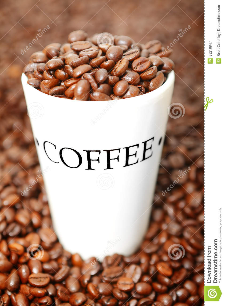 Coffee cup background Coffee Beans And Cup Background
