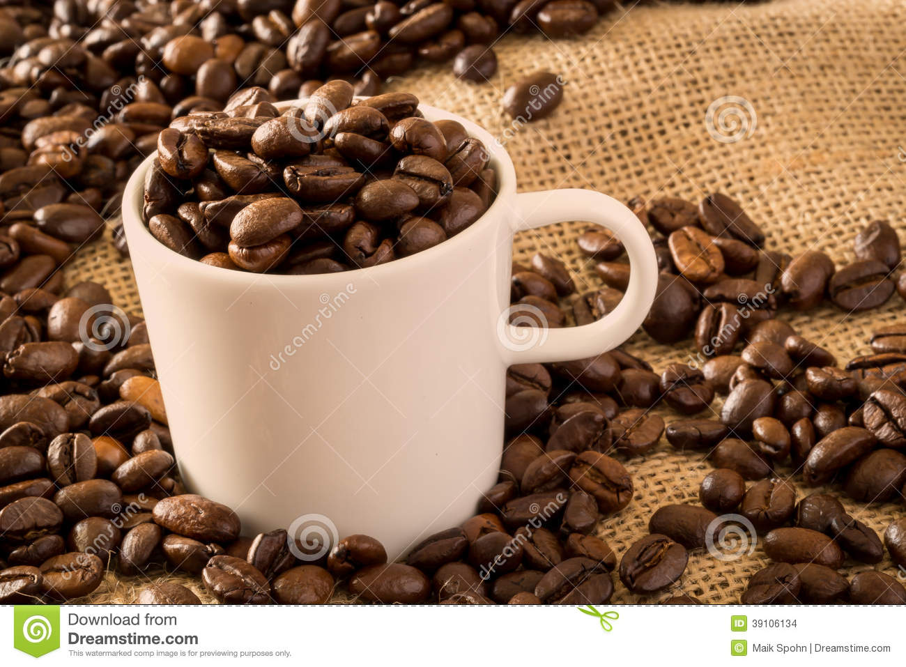 Coffee Cup and Beans 2