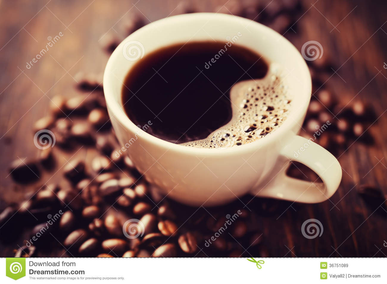 Download Coffee cup and beans stock image. Image of copyspace - 36751089