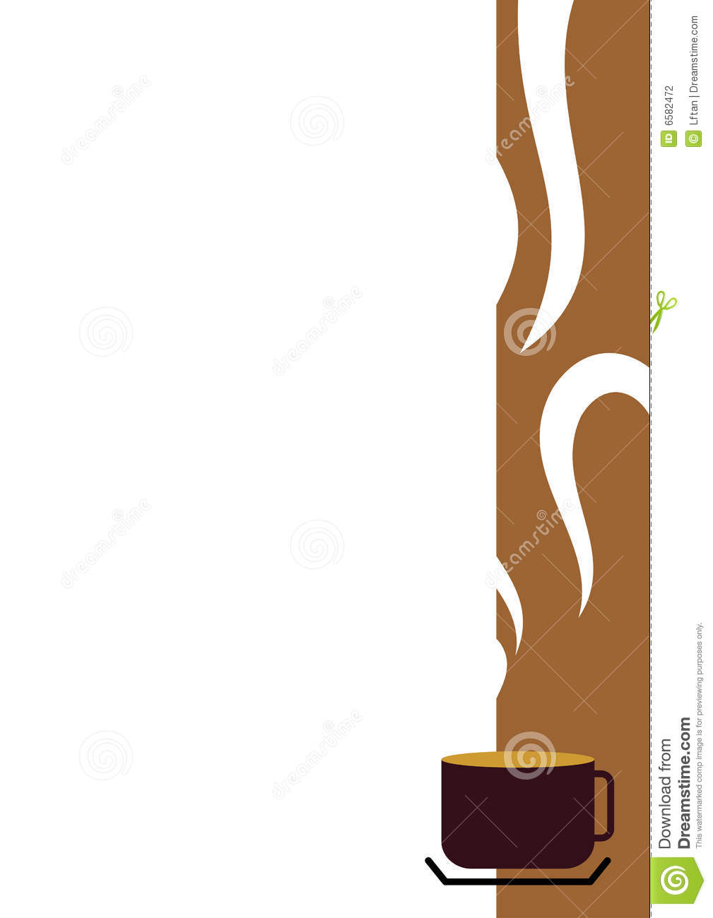 Coffee Cup Border stock vector. Illustration of ...