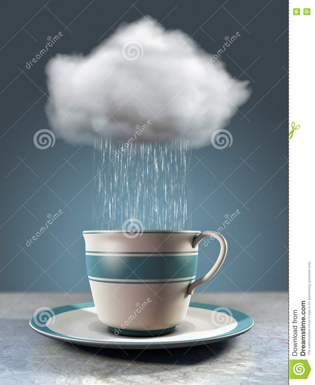 Coffee Cup And Cloud Stock Illustration Image 79257290