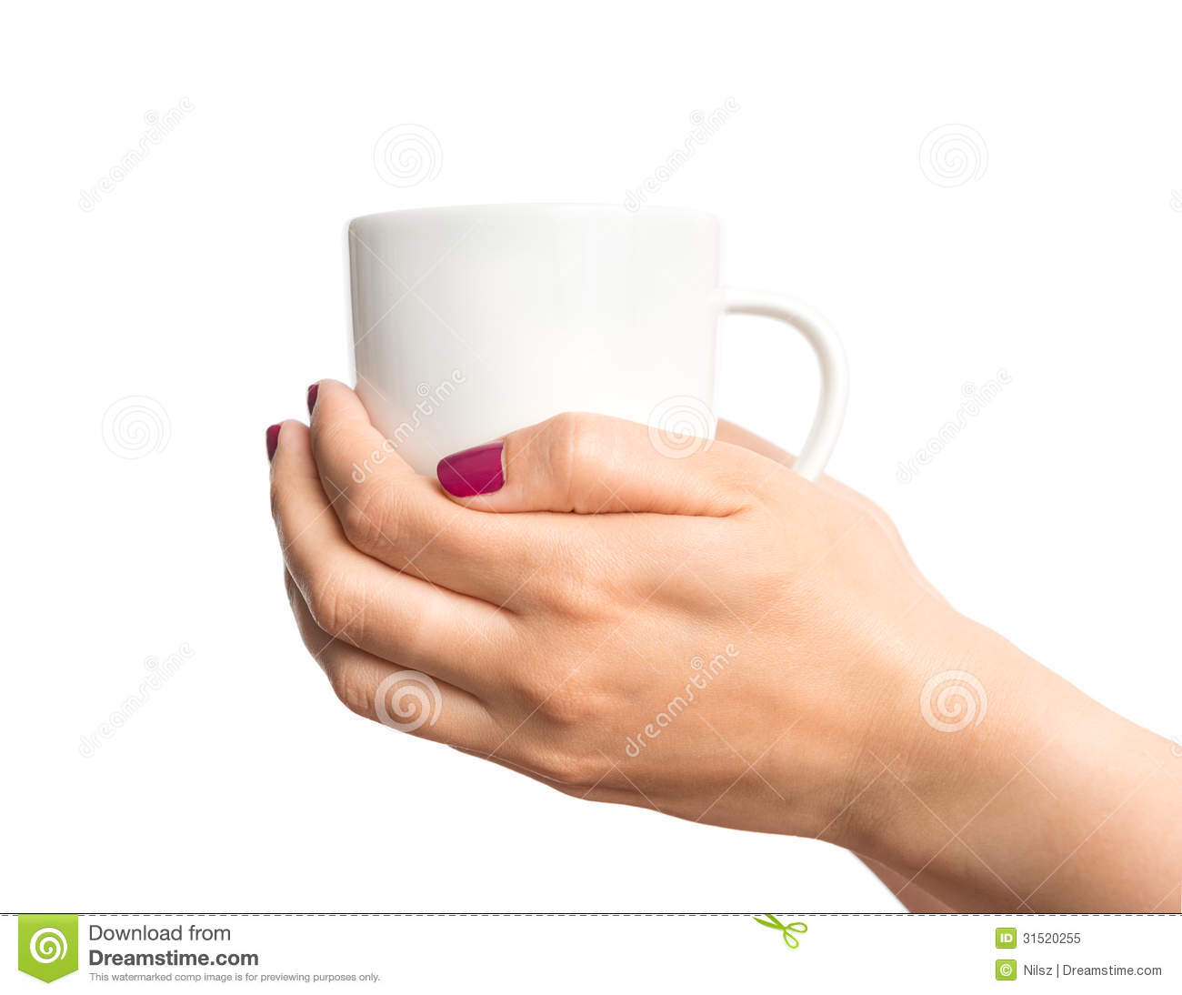 coffee cup in female hand stock image image of heat 31520255