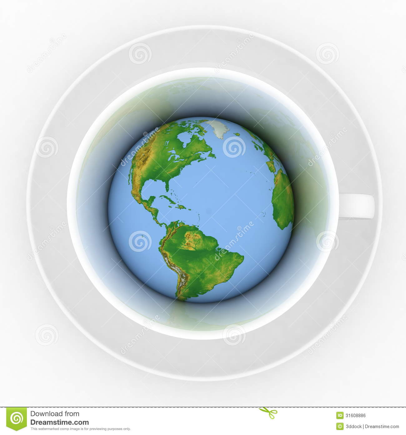 Coffee Cup With A Globe Royalty Free Stock Image Image