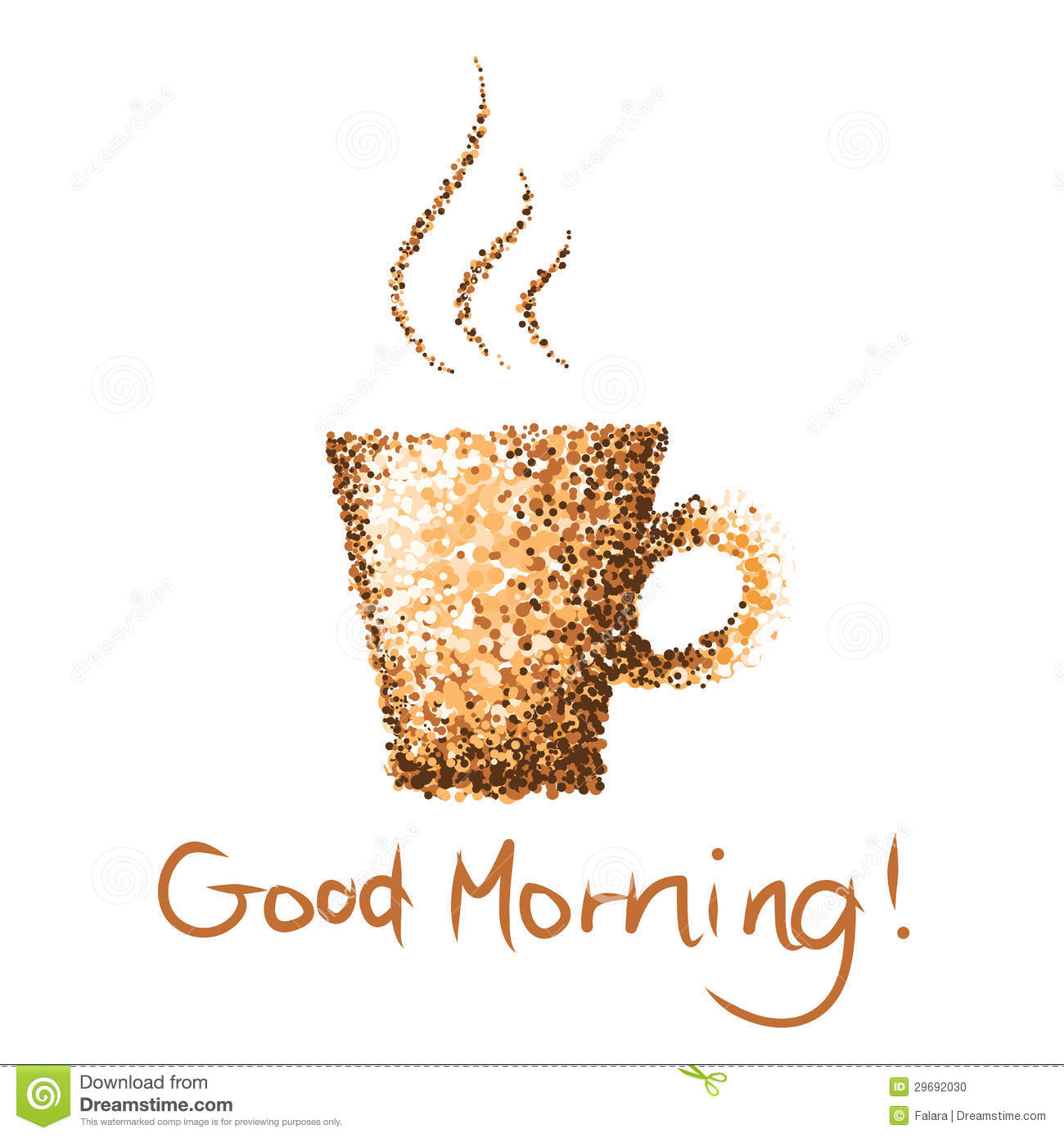 Coffee Cup Good Morning Stock Photo Image 29692030