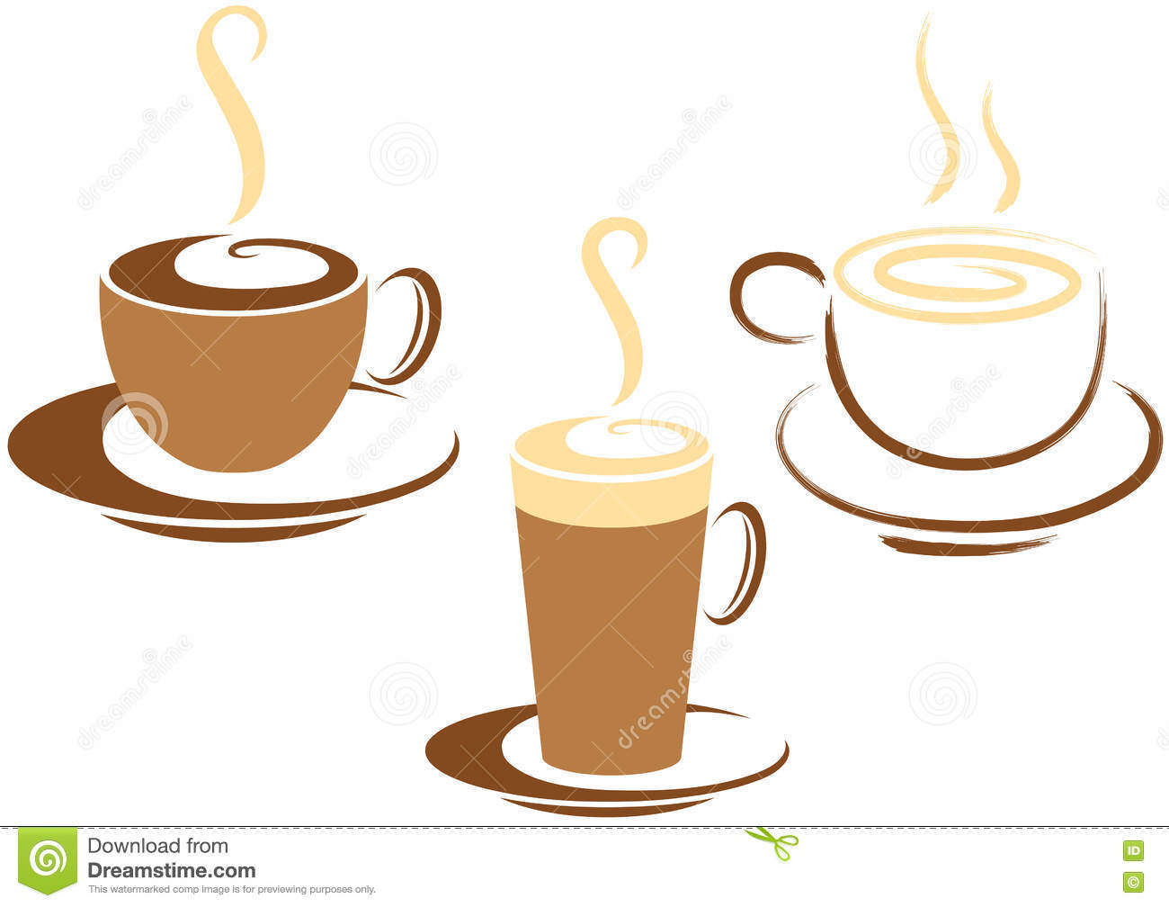 Coffee Cup Graphics Stock Vector. Illustration Of Crockery