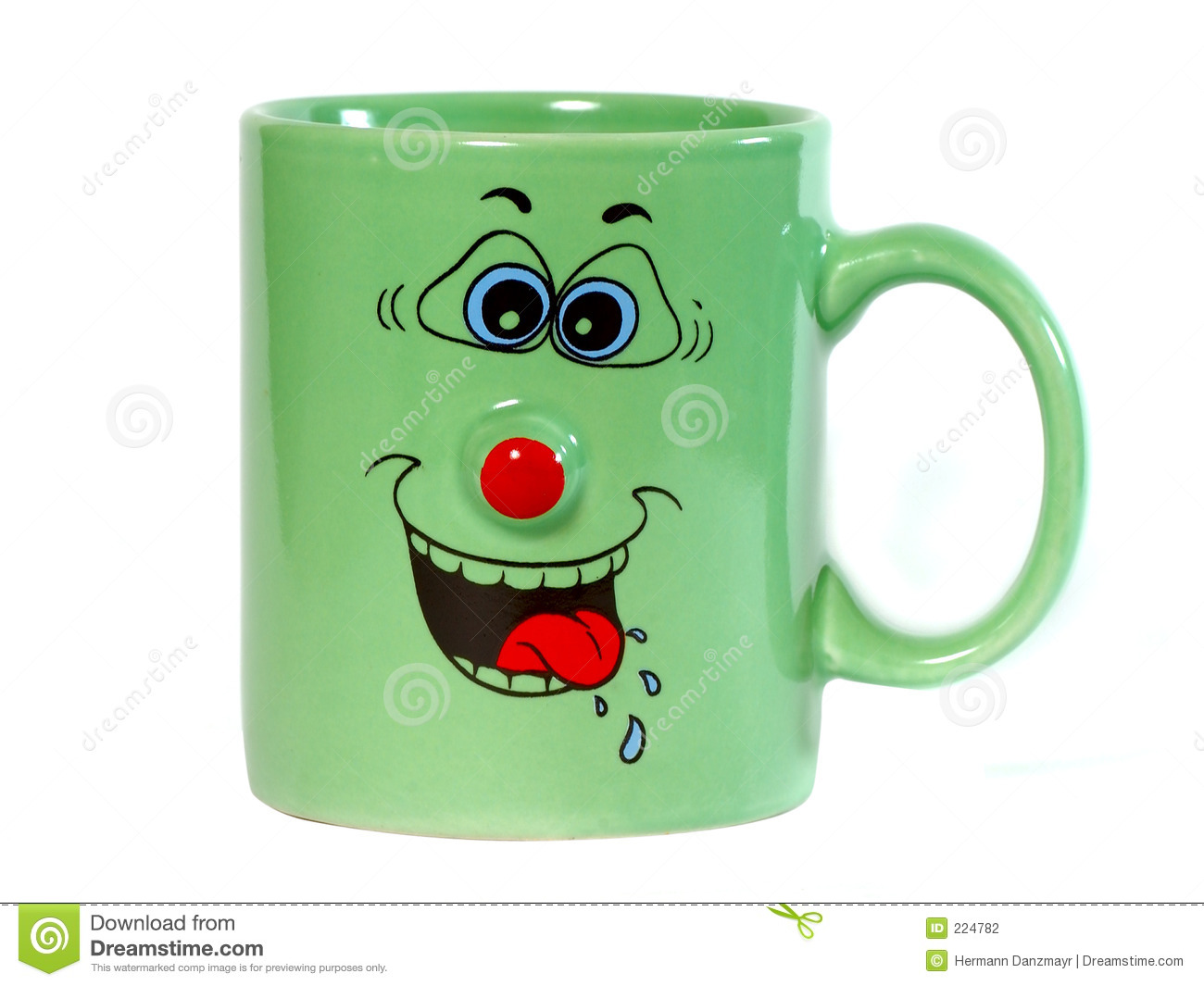 Coffee cup with a grin