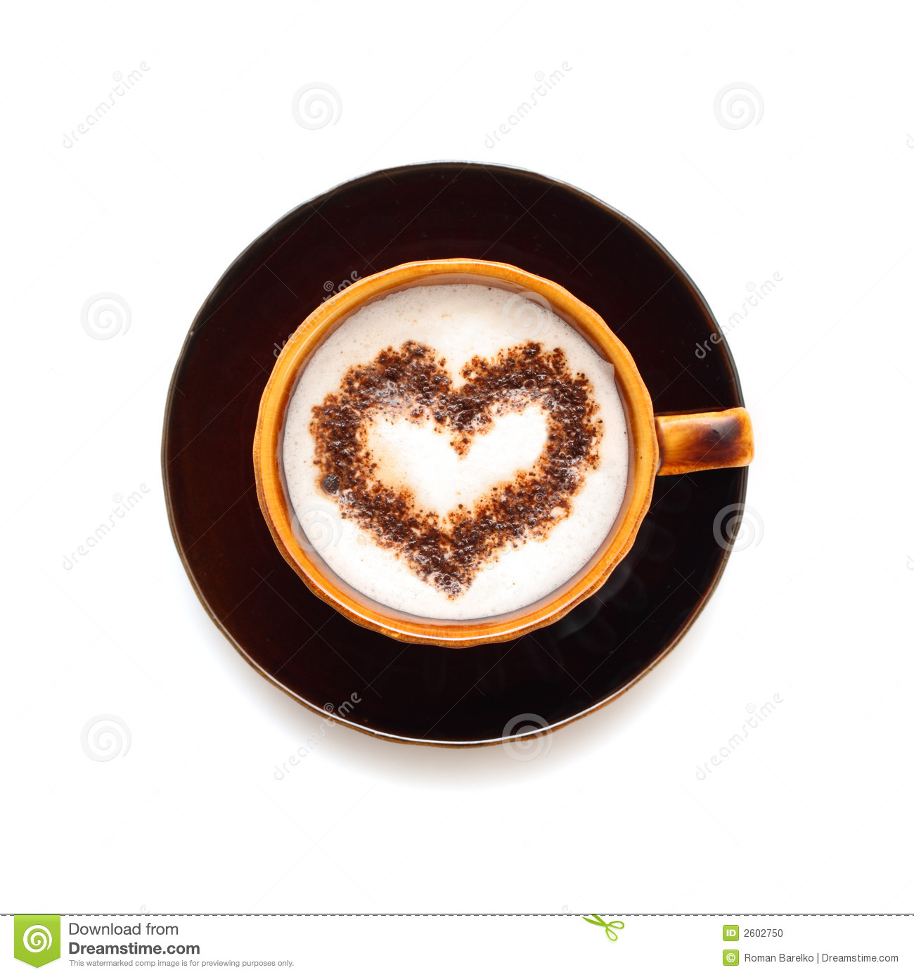 Stock Photo Coffee Cup With Heart Shape Image 2602750