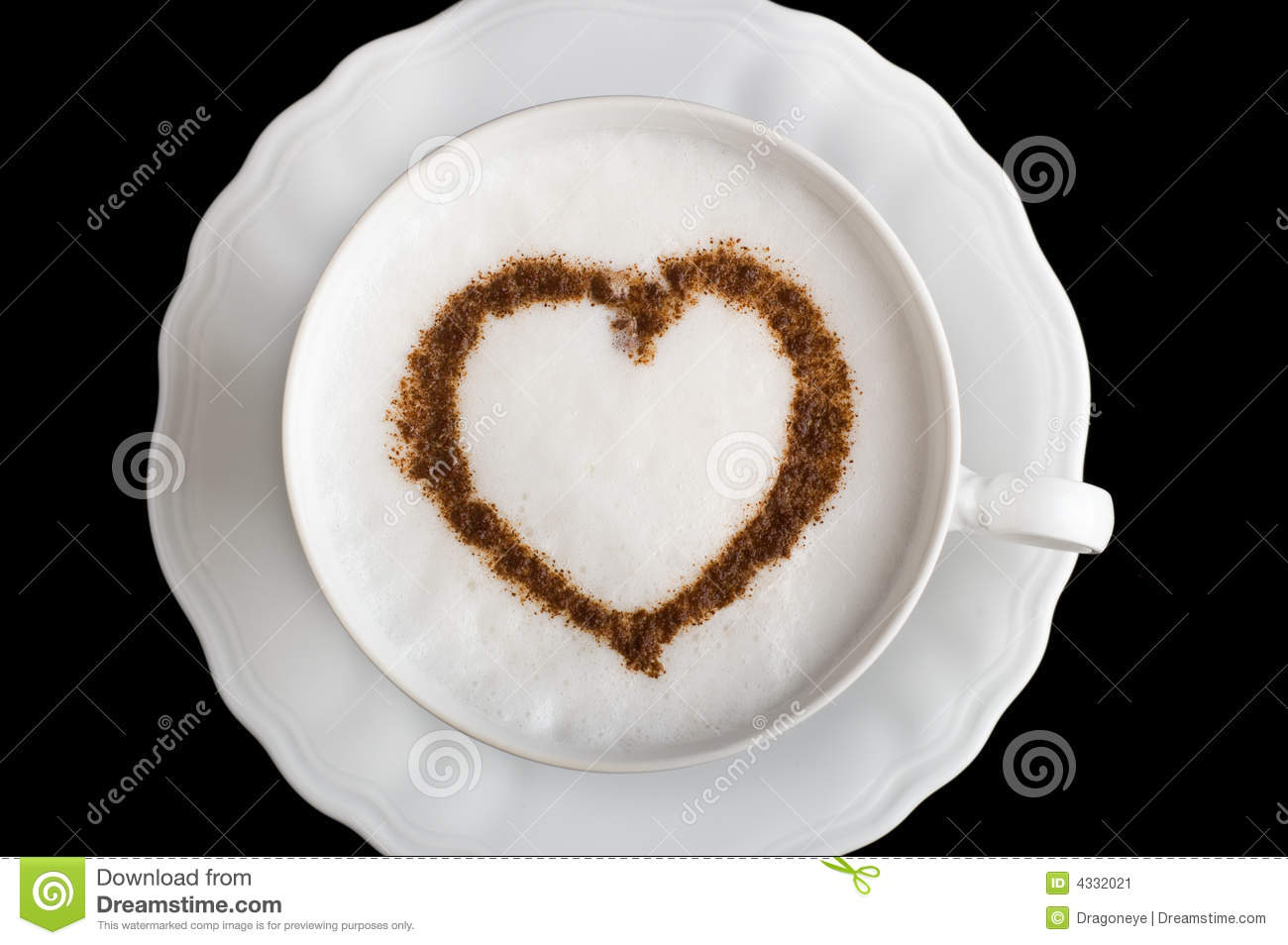 Coffee Cup With Heart Shape Stock Image Image 4332021