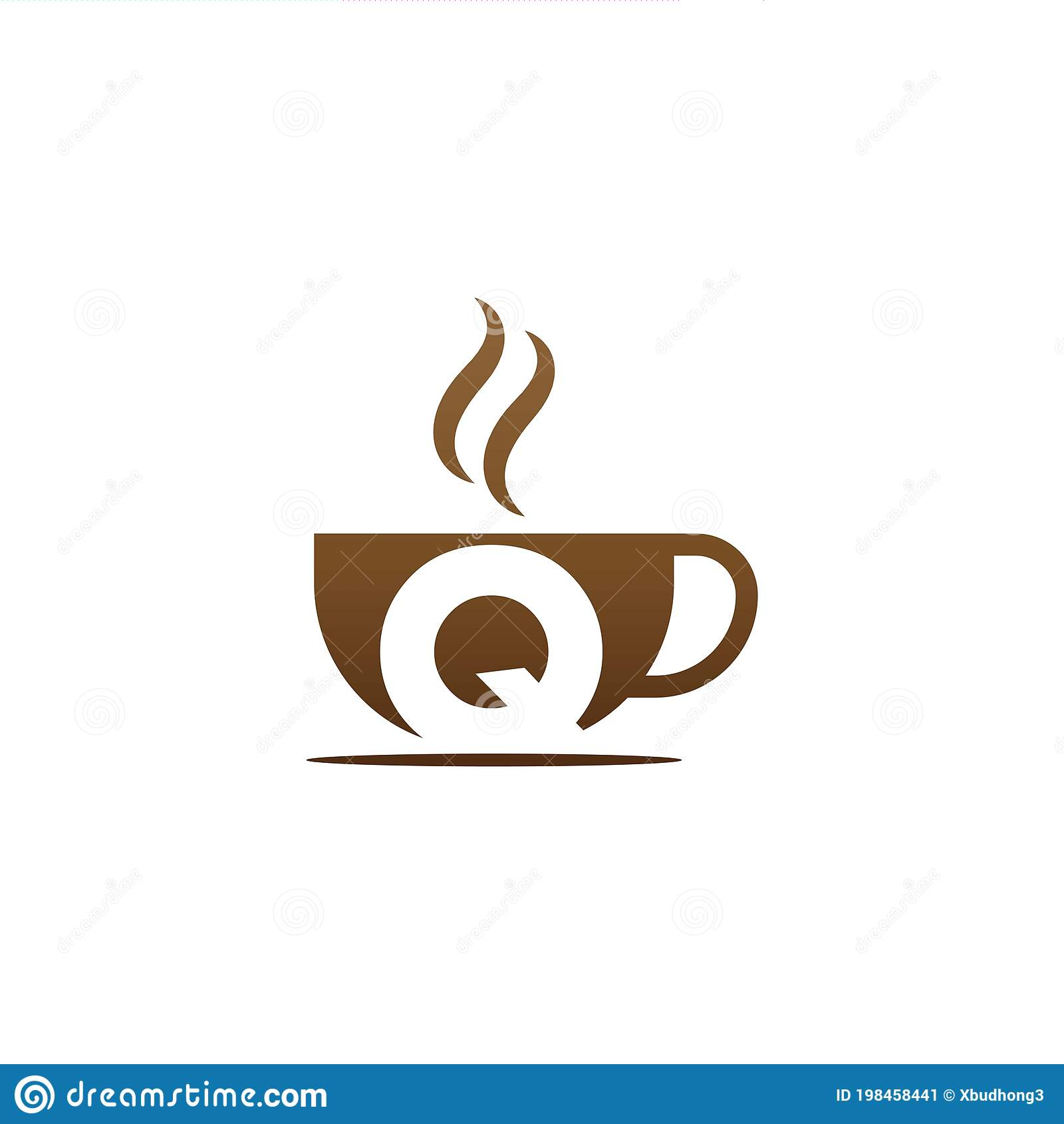 Coffee Cup Icon Design Letter Q Logo Stock Vector Illustration Of Morning Decoration 198458441