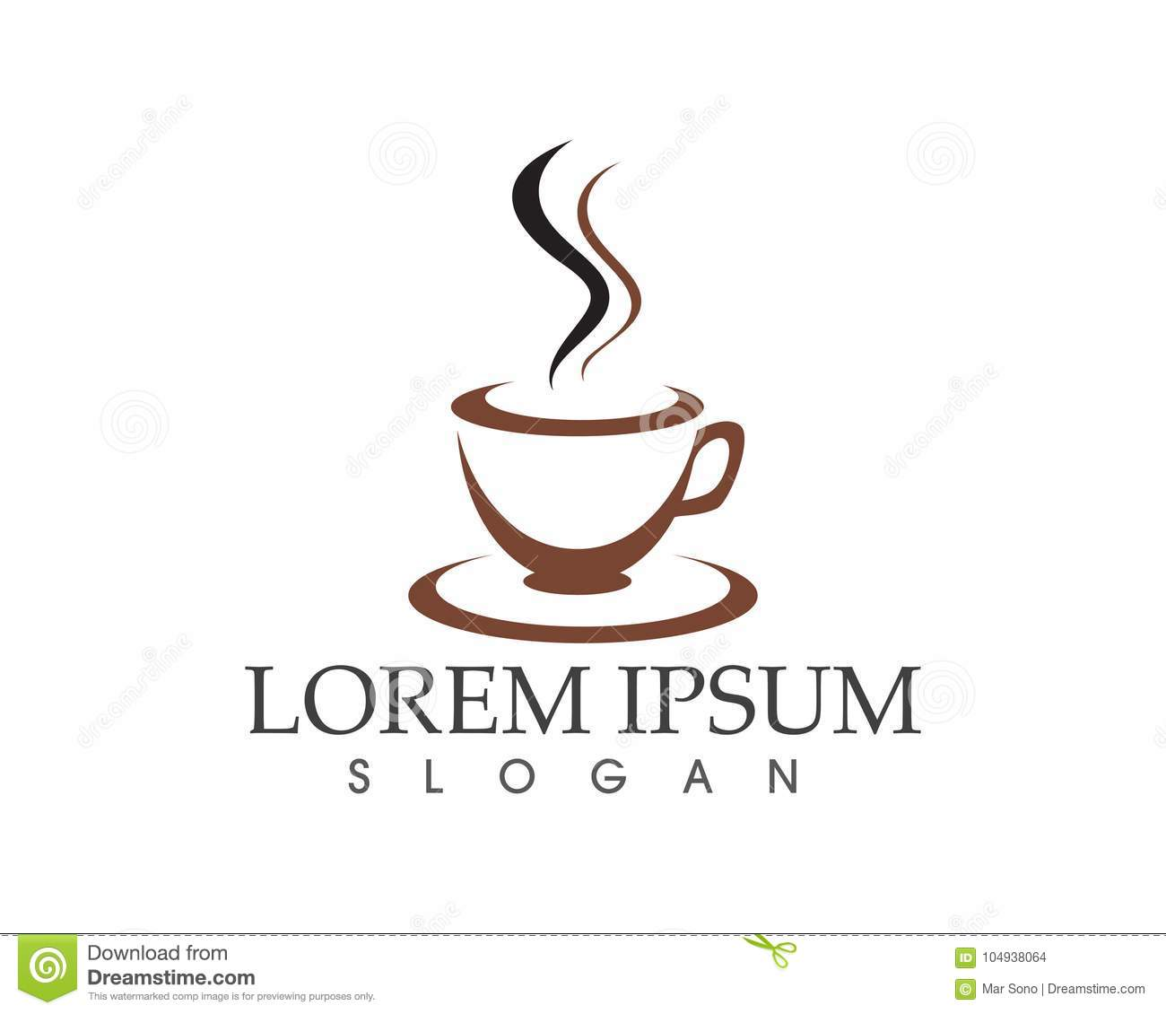 Coffee Cup Logo Template Vector Icon Design Stock Vector ...
