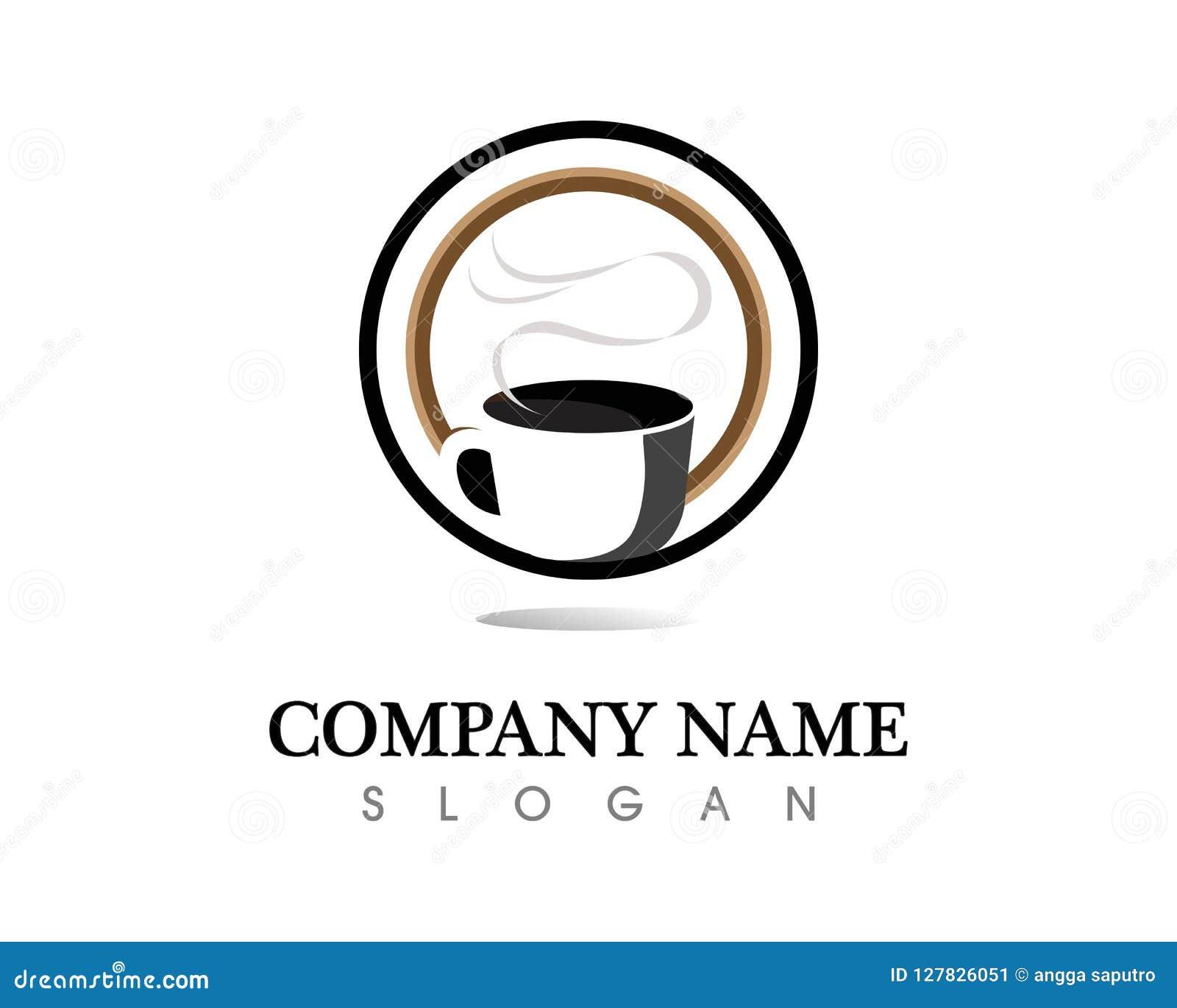 coffee cup logo template vector icon design stock vector