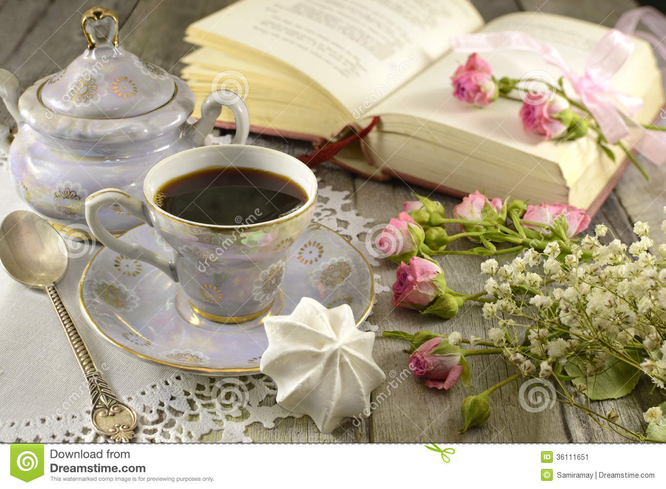 Coffee Cup With Poetry Book Stock Image Image 36111651