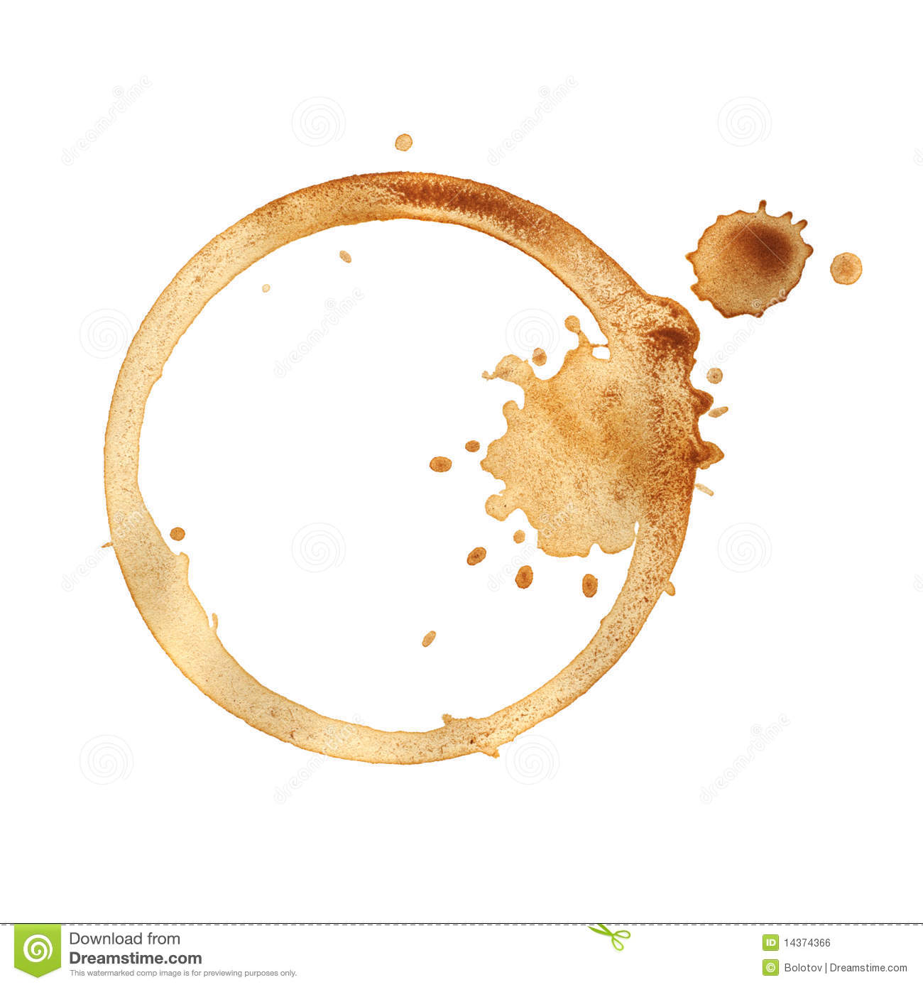 Coffee Cup Ring. Royalty Free Stock Image - Image: 14374366