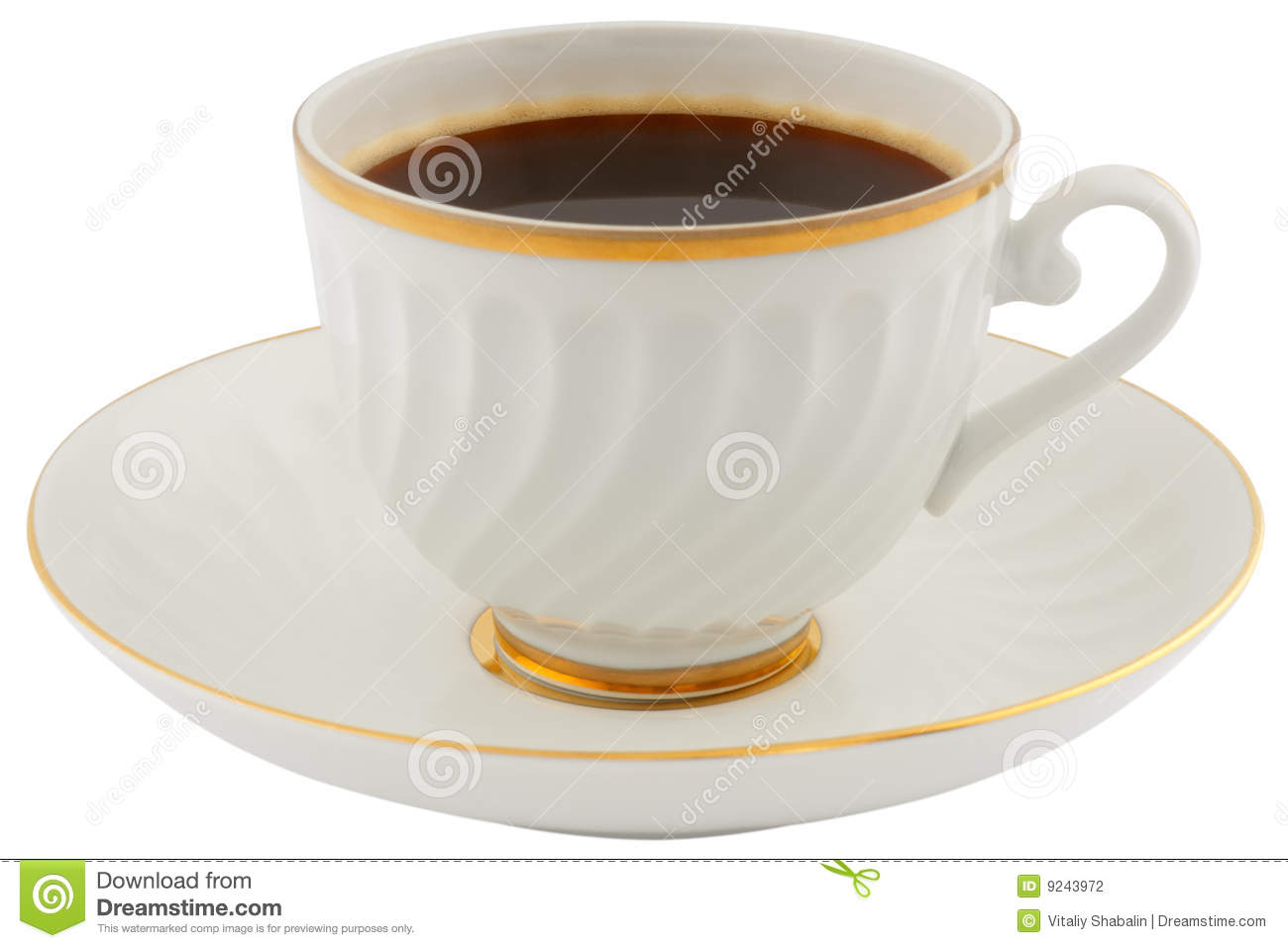 coffee cup and saucer stock photography image 9243972. Black Bedroom Furniture Sets. Home Design Ideas