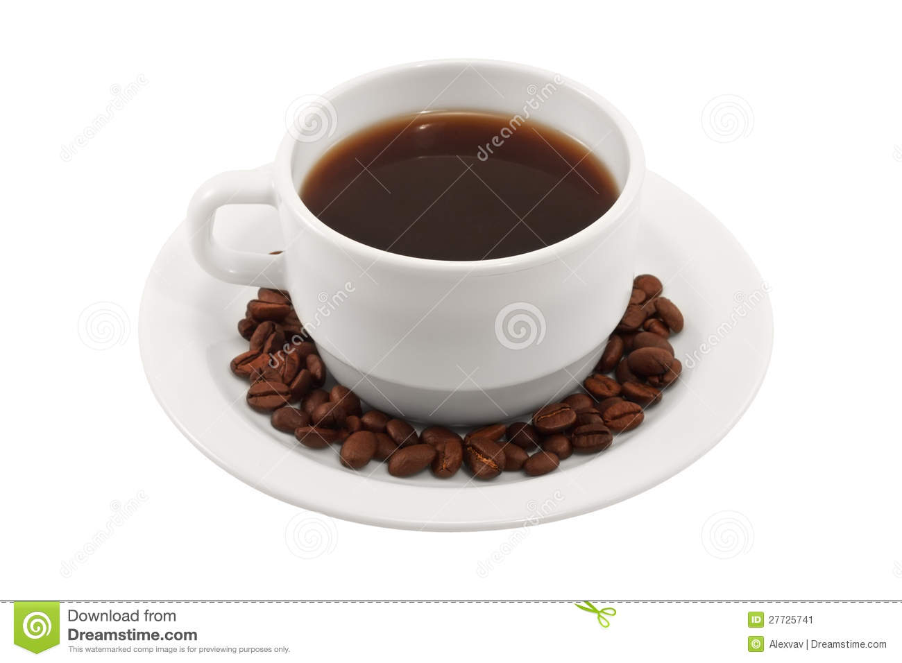 Coffee Cup And Saucer On A White Background Stock Image ...